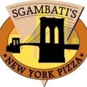 This is the restaurant logo for Sgambati's New York Pizza