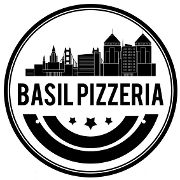 This is the restaurant logo for Basil Pizzeria
