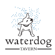 This is the restaurant logo for Waterdog Tavern