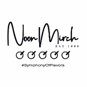 This is the restaurant logo for Noon Mirch