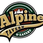 This is the restaurant logo for Alpine Tavern
