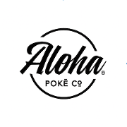 This is the restaurant logo for Aloha Pokē Co.