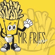 This is the restaurant logo for Mr. Fries Man Gardena