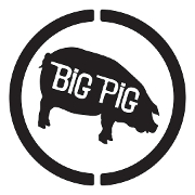 This is the restaurant logo for Big Pig Barbecue