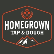 This is the restaurant logo for Homegrown Tap and Dough