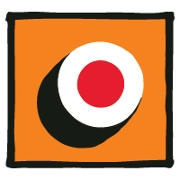 This is the restaurant logo for Give the Gift of Sushi • Sushi Maki