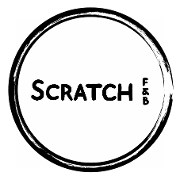This is the restaurant logo for Scratch Food & Beverage