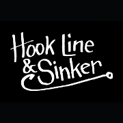 This is the restaurant logo for Hook Line & Sinker