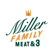 This is the restaurant logo for Miller Family Meat & Three