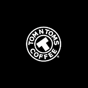This is the restaurant logo for Tom n Toms Coffee