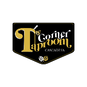 This is the restaurant logo for The Corner Taproom - Cascade, IA