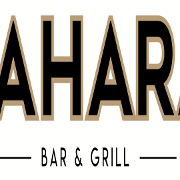 This is the restaurant logo for Sahara Mediterranean Grill