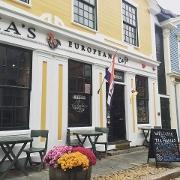 This is the restaurant logo for Tia Maria's European Cafe