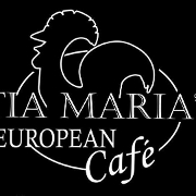 This is the restaurant logo for Tia Maria's European Cafe