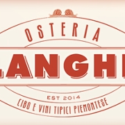 This is the restaurant logo for Osteria Langhe