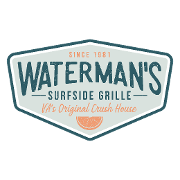 This is the restaurant logo for Waterman's Surfside Grille