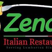 This is the restaurant logo for ZENOS ITALIAN RESTAURANT