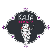 This is the restaurant logo for Kasa Indian Eatery
