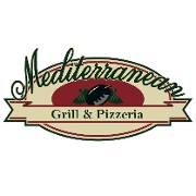 This is the restaurant logo for Mediterranean Grill & Pizzeria
