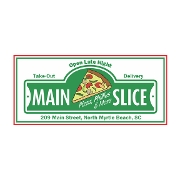 This is the restaurant logo for The Main Slice