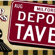 This is the restaurant logo for Depot St. Tavern