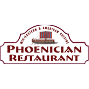 This is the restaurant logo for The Phoenician Restauraunt