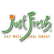 This is the restaurant logo for Just Fresh