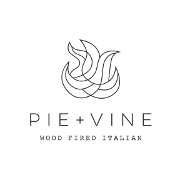 This is the restaurant logo for Pie + Vine