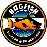 This is the restaurant logo for Hogfish Seafood & Smokehouse