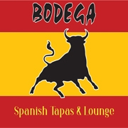 This is the restaurant logo for Bodega Spanish Tapas & Lounge