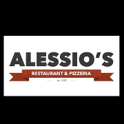 This is the restaurant logo for Alessio's Restaurant & Pizzeria - Cumming