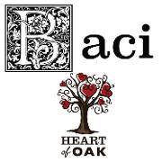 This is the restaurant logo for Baci Ristorante & Heart Of Oak Pub