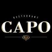 This is the restaurant logo for Capo Restaurant & Supper Club