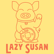 This is the restaurant logo for Lazy Susan