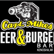 This is the restaurant logo for Captain Mike's Beer & Burger Bar