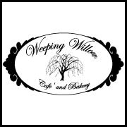 This is the restaurant logo for The Weeping Willow Cafe and Bakery