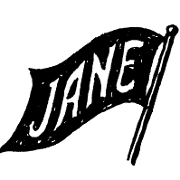 This is the restaurant logo for Jane on Fillmore