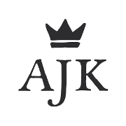 This is the restaurant logo for A&J King Artisan Bakers