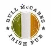 This is the restaurant logo for Bull McCabe's Irish Pub