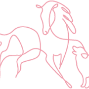This is the restaurant logo for Hound and Mare