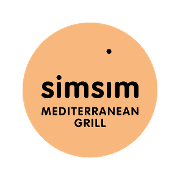 This is the restaurant logo for Simsim Mediterranean Grill