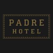 This is the restaurant logo for THE PADRE HOTEL