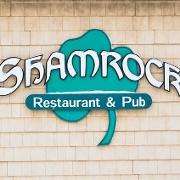 This is the restaurant logo for Shamrock Bar & Restaurant
