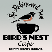 This is the restaurant logo for The Bird's Nest Cafe