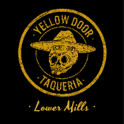 This is the restaurant logo for Yellow Door Taqueria