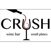 This is the restaurant logo for Crush Wine Bar