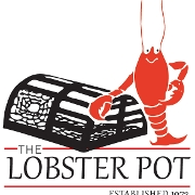 This is the restaurant logo for The Lobster Pot