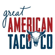 This is the restaurant logo for Great American Taco Company