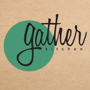 This is the restaurant logo for Gather Kitchen