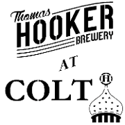 This is the restaurant logo for Thomas Hooker at Colt